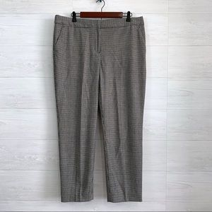 Talbots Houndstooth Print Wool Trouser Crop Pant